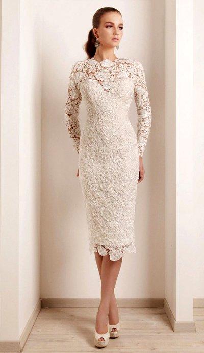 Свадебные платье футляр фото
